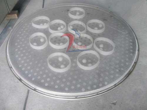 旋振筛冲孔板和网架